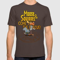 Moose & Squirrel Come To… Mens Fitted Tee Brown SMALL