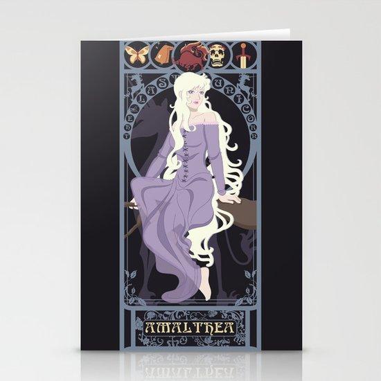 Amalthea Nouveau - The Last Unicorn Stationery Card