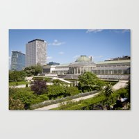 Brussels botanical garden Canvas Print