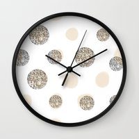 POIS CHIC WHITE Wall Clock