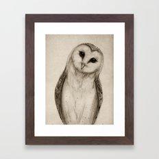 Barn Owl Sketch Framed Art Print