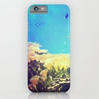 iPhone & iPod Case featuring In The Big Blue World by KaleChips