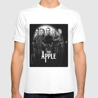 The Apple Band Mens Fitted Tee White SMALL