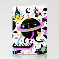 Interstellar Beat Stationery Cards