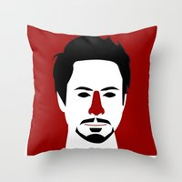 Robert John Downey Jr. Throw Pillow