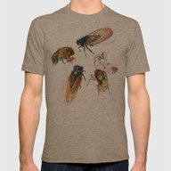 Summer Cicadas Mens Fitted Tee Tri-Coffee X-LARGE