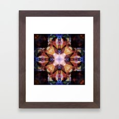 Textured Geometric Manda… Framed Art Print