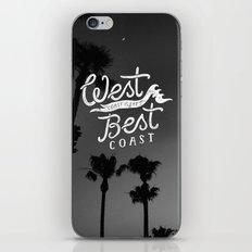 West Coast is the Best Coast iPhone & iPod Skin