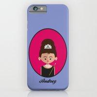 audrey hepburn iPhone & iPod Cases featuring Audrey Hepburn by Juliana Motzko