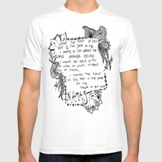 Namaste Doodle SMALL White Mens Fitted Tee