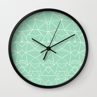 Abstract Mirror Mint Wall Clock
