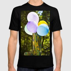 Boot And Balloons SMALL Black Mens Fitted Tee