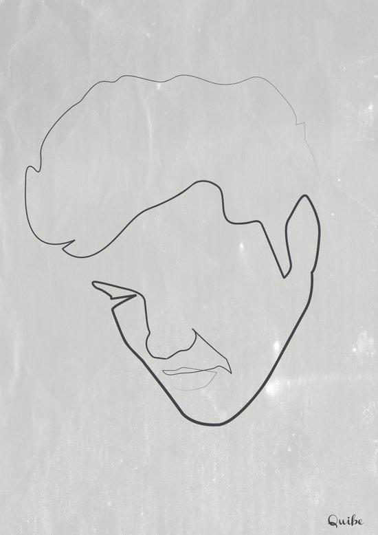 One line Elvis Art Print
