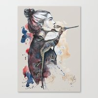 seehorse by carographic Canvas Print