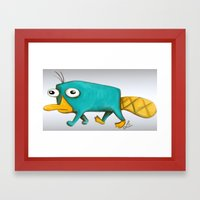Perry - Pet mode on Framed Art Print