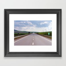 2007 - We Are On A Road To Nowhere (High Res) Framed Art Print