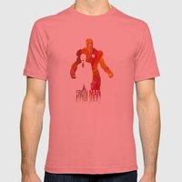 Iron Man Mens Fitted Tee Pomegranate SMALL