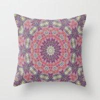 Gypsy Medallion Grape Throw Pillow