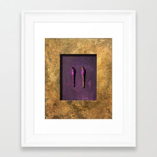turning away Framed Art Print