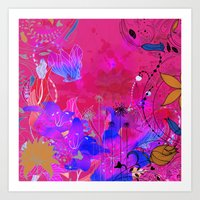 Boho Floral 2 Pattern Art Print
