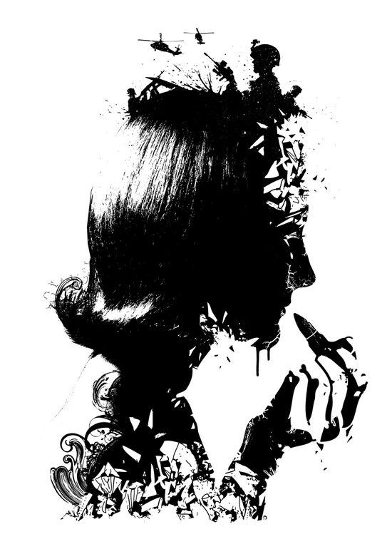 WOMAN SOLDIER Art Print