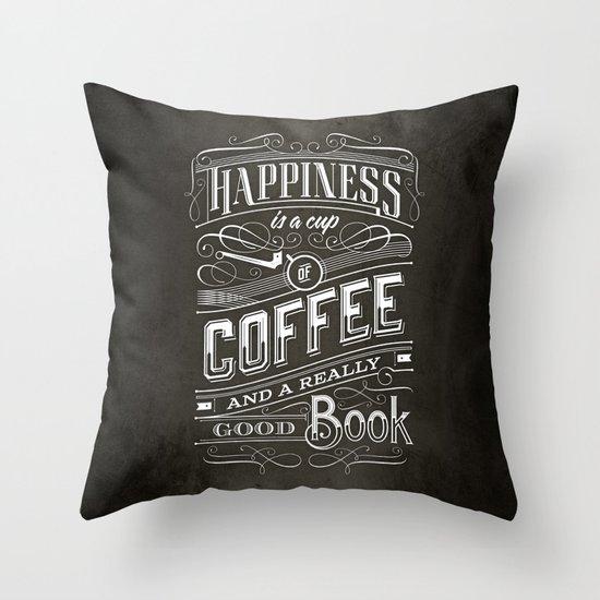 Coffee - Typography Throw Pillow