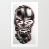Badwood 3D Ski Mask Art Print