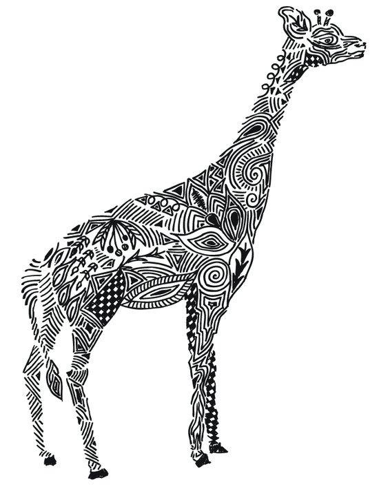 Designer Giraffe Art Print