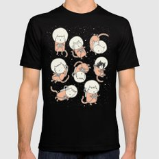 Cat-Stronauts SMALL Black Mens Fitted Tee