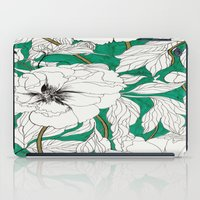 Green Peonies iPad Case