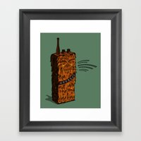 Wookiee talkie Framed Art Print