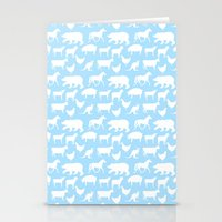 Animal Silhouettes Stationery Cards