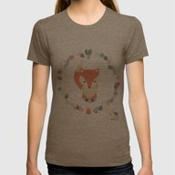 Christmas Baby Fox 02 Womens Fitted Tee Tri-Coffee SMALL
