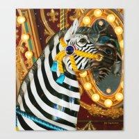 Wild Ride On A Carousel II Canvas Print