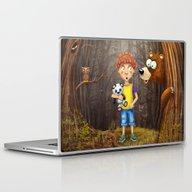 Little Boy With The Anim… Laptop & iPad Skin