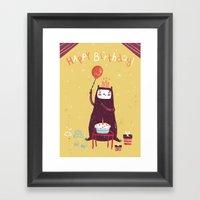 Happy Birthday Purple Mo… Framed Art Print