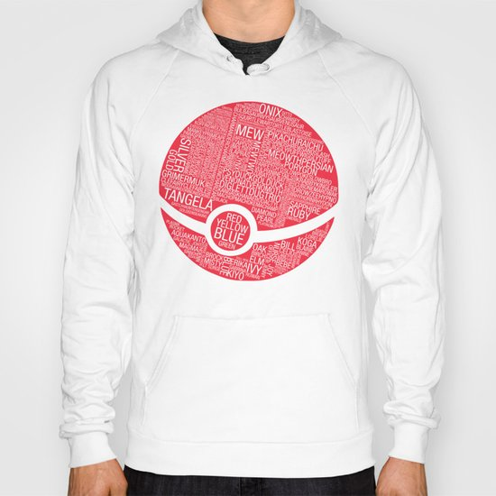 Pokemon Typography Hoody