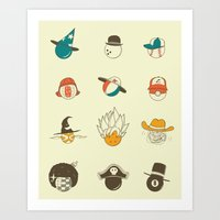 Weird Balls With Weird H… Art Print
