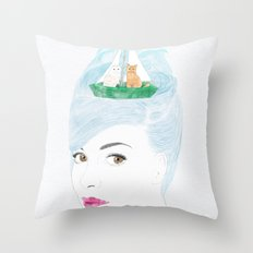 When Audrey Met Edward Throw Pillow