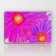 Bright Pink Sketch Flowe… Laptop & iPad Skin