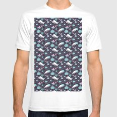Dance of the Egret SMALL Mens Fitted Tee White