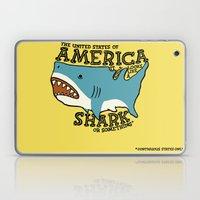 America…   it kinda looks like a shark or something Laptop & iPad Skin