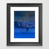 Travel Is Only Framed Art Print