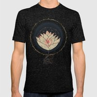 Lotus Mens Fitted Tee Tri-Black SMALL