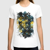 Abstract Thinking Remix Womens Fitted Tee White SMALL