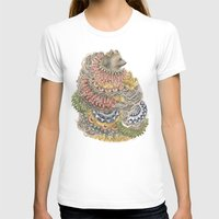 Quilted Forest: The Bear Womens Fitted Tee White SMALL