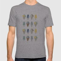 Ice Cream Pattern  Mens Fitted Tee Athletic Grey SMALL