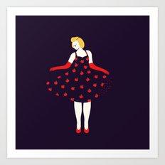 Apple girl Art Print