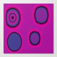 pink and purple circles abstract Canvas Print