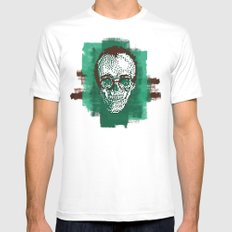 Keith POSTportrait White SMALL Mens Fitted Tee